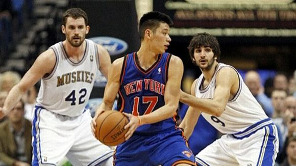 New York Knicksin pelinrakentaja takamies Jeremy Lin NBA 2012