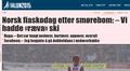 Norjan huollon epäonnistuminen nousi otsikoihin muun muassa VG:ssä.