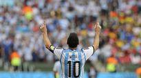 Argentiinan Lionel Messi tuulettaa.