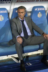 José Mourinho Real Madridin ottelussa Getafea vastaan.