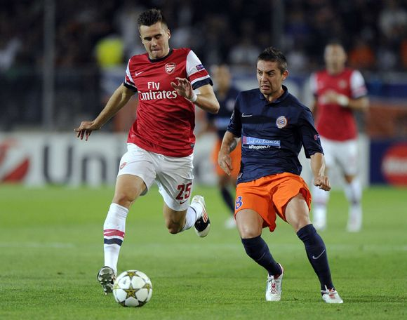 Carl Jenkinson Arsenal Anthony Mounier Montpellier