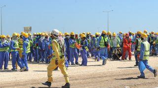 Qatarin työntekijöitä
