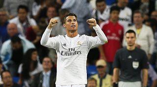 Kuvassa Real Madrdin tähtipelaaja Cristiano Ronaldo