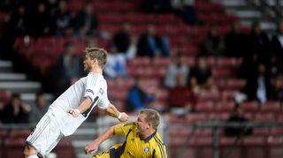 FC Kööpenhaminan Rurik Gislason ja Teemu Tainio HJK Eurooppa-liiga 2014