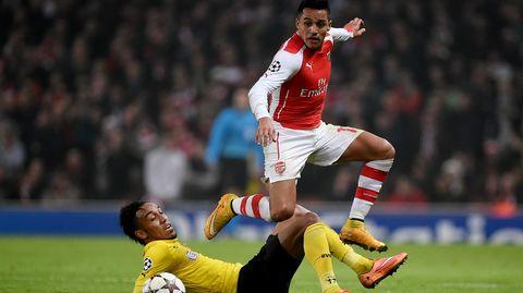 Arsenalin Alexis Sanchez oli oivalla pelipäällä Dortmundia vastaan