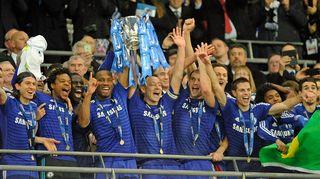 Chelsea juhlii Liigacupin voittoa