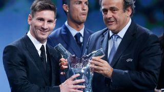 Lionel Messi Michel Platini