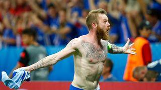 Islannin kippari Aron Gunnarsson.