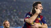 Neymar ja Lionel Messi juhlivat Barcelonan avausosumaa