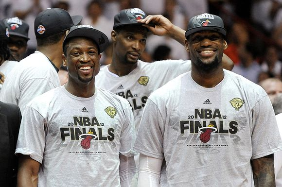 Dwyane Wade, Chris Bosh ja LeBron James.