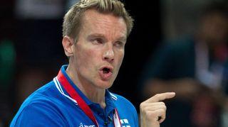 Lentopallovalmentaja Tuomas Sammelvuo MM-kisoissa 2014