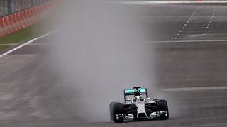 Nico Rosberg vauhdissa Belgian Span radalla.