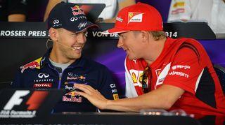 Sebastian Vettel ja Kimi Räikkönen.