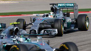 Nico Rosberg ja Lewis Hamilton.