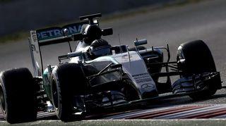 Nico Rosberg oli huimassa vauhdissa Barcelonan F1-testeissä