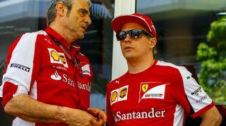Maurizio Arrivabene ja Kimi Räikkönen.