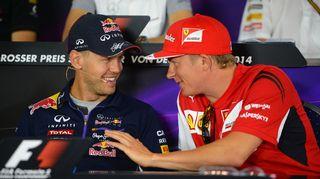 Räikkönen ja Vettel