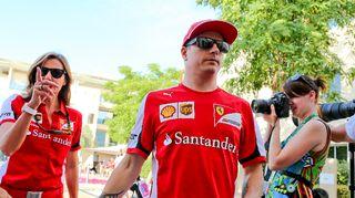 Kimi Räikkönen Abu Dhabissa.