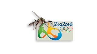 Hyttynen ja olympialogo