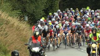Tour de Helsingin kilparyhmän pääjoukko.
