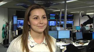 Jonna Karonen haastattelussa Ylen Urheilutoimituksessa
