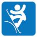 Lumilautailun slopestylen pictogrammi