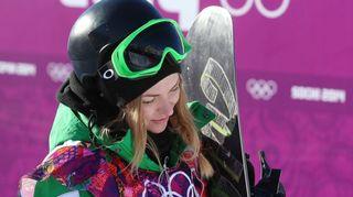 Video: Lumilautailija Merika Enne slopestyle-karsintojen jälkeen.