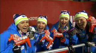 Video: Suomen naisten viestijoukkue.