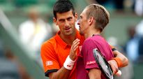 Novak Djokovic ja Jarkko Nieminen.