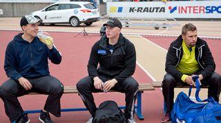 Ari Mannio, Teemu Wirkkala ja Antti Ruuskanen Turun Paavo Nurmi Gamesissa.