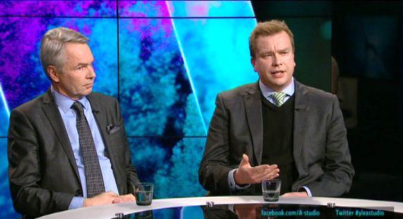 A-studio, Pekka Haavisto ja Antti Kaikkonen.