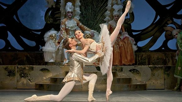 "Jani Talo and Petia Ilieva in the National Ballet's ""Sleeping Beauty"""