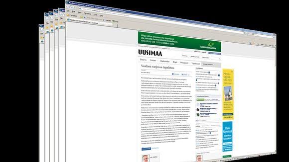 Uutisgrafiikka Uusimaa-lehden internetsivustosta.