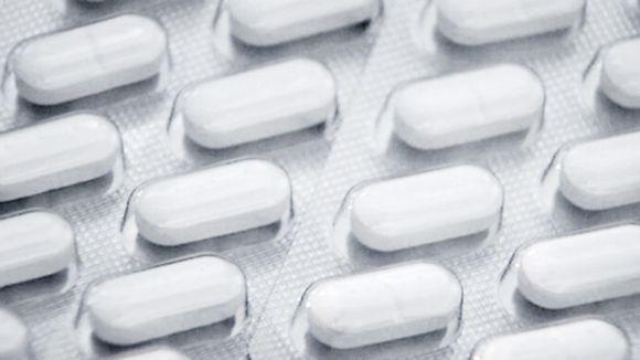 Lääkkeitä pakattuna lähikuvassa.