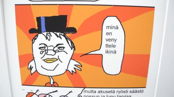 Paint-taidetta Jyväskylän kaupunginkirjastossa.