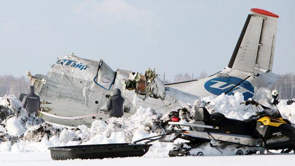 Maahan syöksynyt lentokone Tjumenin kaupungissa Venäjällä.