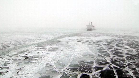 Talvinen ja jäätynyt Itämeri