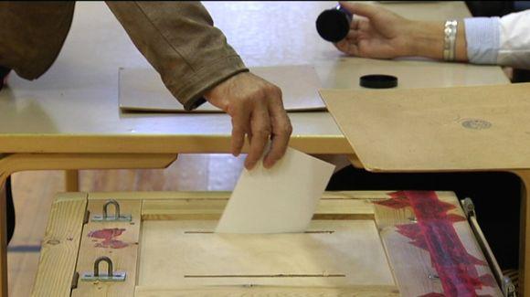 Bild på röstning