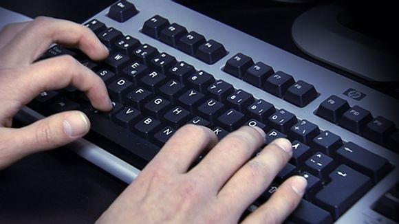 Tietokoneen näppäimistö.