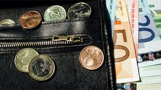 Eurot lompakossa