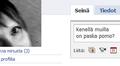 Yksityiskohta Facebook-sivusta.