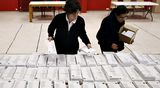 Äänestys Espanjassa.