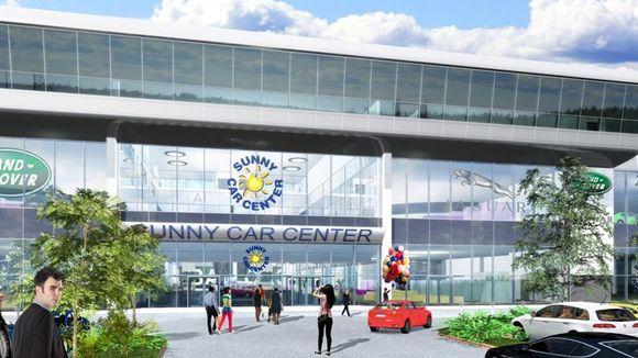 Havainnekuva Sunny Car Centerin sisäänkäynnistä