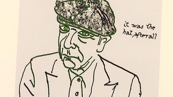 Leonard Cohen's self-portrait.