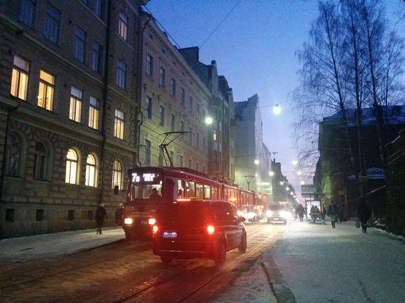 Helsinki aamulla 8.1.2015.