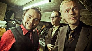 Knucklebone Oscar (kitara), Yukka White (rummut&laulu) ja R.K. Hillside (koskettimet)