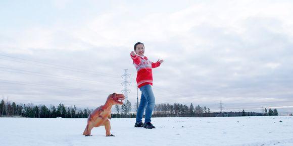 Audio: Vantaalle kaavaillun dinosauruspuiston markkinointikuvassa esiintyy Jurase Park Oy:n toimitusjohtaja Sumalee SaeLeaw.