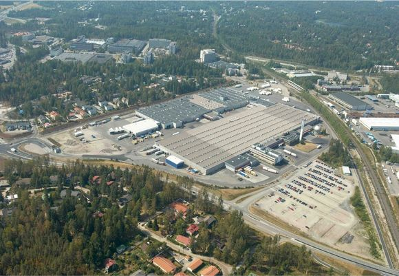 Inex Partners Oy:n logistiikka-alue Espoossa.