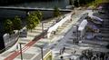 havainnekuva uudesta raitiovaunureitistä kantakaupungista Laajasalon Kruunuvuoreen