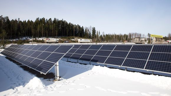 Keravan Energian aurinkovoimala.